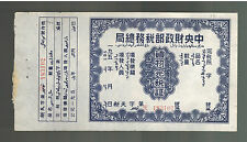 Tibet China Revenue Receipt cover  Stampless 2