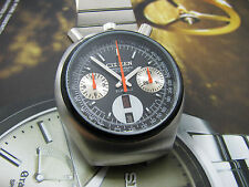 RARE CITIZEN BULLHEAD CHRONOGRAPH AUTOMATIC GENTS FULL RESTORE BLACK DIAL.
