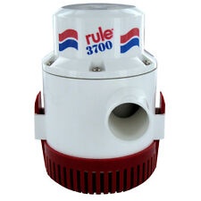 "Rule 3700 G.P.H. GPH Boat Marine Bilge Pump Non Automatic 12V 1-1/2"" Outlet 15A"
