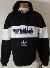 NWT Adidas Northwestern Wildcats Mens Button Collar Hoodie XL Black/White $70
