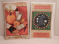 New Pattern for Hand Stitching Trick or Treat Bags & Fall/Autumn Wool Penny Rug
