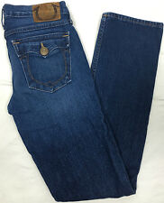 Girl's True Religion Brand Blue Jeans Sz 12 Flap Back Pockets Flap Watch Pocket