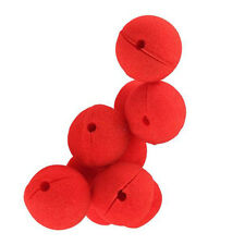 10pcs Red Ball Foam Circus Clown Nose Comic Party Halloween Costume Magic Dress