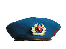 Beret of soldier Soviet Airborne Troops (blue sky)