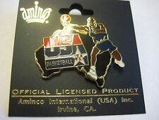 NBA PIN~USA BASKETBALL PIN BADGE~Michael Jordon~DREAM TEAM~USA OLYMPICS~NEW ZEAL
