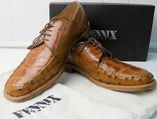 Fennix Italy Oxford Shoes Men's Size 13 STYLE 1017 Alligator Ostritch Genuine