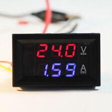 1 X DC 100V 10A Voltmeter Ammeter Dual Color Display LED Amp Volt Meter Gauge uk