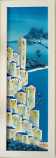 Paolo DA NORCIA olio 100x30 + catalogo con cascella guttuso fiume sassu gonzaga