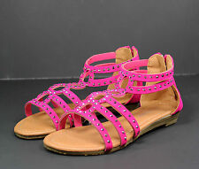 gilda-38k Kid Toddlers Youth Wedding Party Sandals Girls' Dress Shoes Fuchsia 2