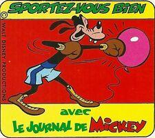 Autocollant sticker Journal de Mickey Sportez vous bien Dingo Goofy Boxe boxeur