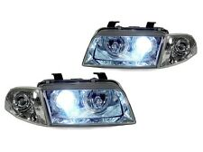 DEPO 96-98 AUDI A4 B5 XENON HID CHROME ANGEL HALO HEADLIGHT + CORNER LIGHT