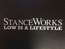Stance Works Vinyl Car Sticker Matte White VW BMW Audi - Free Delivery