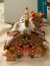 NICE VINTAGE RETIRED PARTYLITE GINGERBREAD TEALIGHT HOUSE - NOS