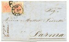 Grandi margini di 2 x 15 cent. su lettera da MILANO a PARMA