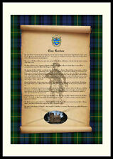 CLAN GORDON - Clan History, Tartan, Crest, Castle & Motto MOUNTED PRESENTATION