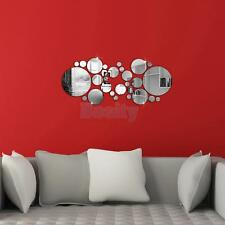 30pcs Circle Acrylic Plastic Mirror Wall Home Decal Decor Vinyl Art Stickers