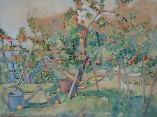 Garten mit Apfelbäumen Neue Sachlichkeit Gottlieb Gottfried Klemm 1872 Stuttgart