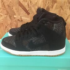 NIKE DUNK HIGH PRO SB BLACK MEDIUM OLIVE RAINFOREST SIZE 7 NIB