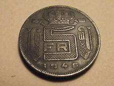 #3452 Belgium; 5 Francs 1945