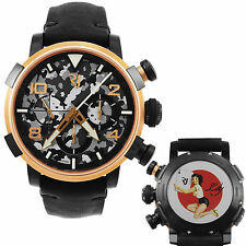 Romain Jerome Pinup DNA Red Gold WWII Lily Card Chrono Auto Men RJ.P.CH.003.01