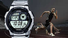 Casio strong multisport watch steel crono training for professional runners uhr