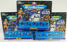 STAR WARS : EWOKS, REBEL & IMPERIAL PILOTS - MICROMACHINE SET - MADE BY GALOOB