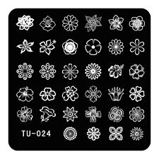 HOT Manicure TU Nail Stamping Plate Stainless Steel Nail Art Stamp Template T-24
