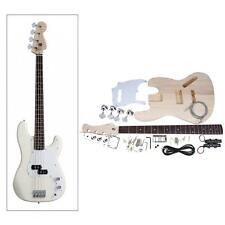 Electric Guitar Neck Basswood Body Exquisite JAZZ Bass Style DIY Kit NEW B2G1