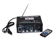 220V DC12V Mini Power Amplifier USB/SD Card/MP3/DVD w Remote Control EU Plug