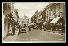 Sussex CHICHESTER South St PPC pub Valentine Hercules bicycle shop c1930s?