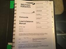 British Airways Concorde Load and Balance Manuals COPY  on PDF CD