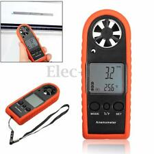 Digital LCD Anemometer Wind Speed Meter Tester Temperature Gauge Air Thermometer
