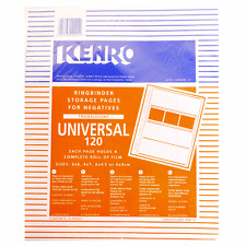 Kenro Universal 120 Film RingBinder Folder Storage Pages Pack of 25 Pages