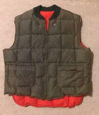 Vintage Mens ABERCROMBIE & FITCH Down Vest Falcon Brand x S. E. Woods Quebec  ~L