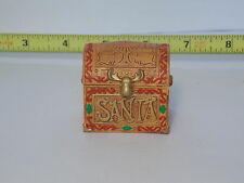 Santa's Toy Box Trunk Chest Christmas Xmas Furniture Store Dollhouse Miniatures