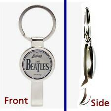 The Beatles Drum Kit Pennant or Keychain silver tone secret bottle opener