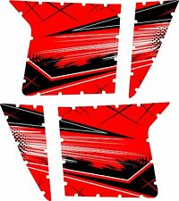 Pro Armor Door Graphics Kit Polaris RZR S XP 900 Razor Red Splash No Cutouts