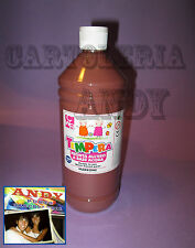 TEMPERA LIQUIDA PRONTA IN BOTTIGLIA 1000 ML (1 LITRO) - MARRONE 08808/28