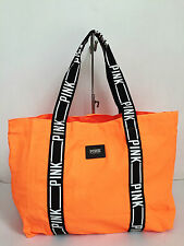 LOW BID! BNEW Authentic PINK By VICTORIA'S SECRET Large Canvas Tote Bag Orange