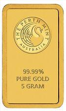 Feingoldbarren 5g Perth Mint Goldbarren 5 Gramm mit Zertifikat Blisterkarte 9999
