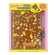 San-x Rilakkuma Secret Locking Journal Diary with Lock and Keys : Yellow