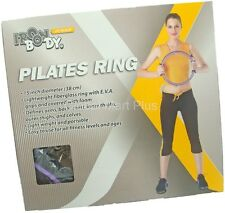 "15"" Pilates Ring EVA Foam Grips Arms Back Chest Yoga Fitness Trainer Iron Body"
