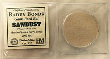 Barry Bonds Game Used Bat Sawdust by Highland Mint Limited Edition of 500