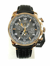 Citizen AT9013-03H World Time Cal.H820 Rose Gold Men's Watch with WARRANTY
