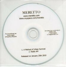 (AL847) Meretto, A Method of Urban Survival - DJ CD