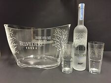 Belvedere Vodka Set 007 James Bond 0,7l FLACONE + 2 BICCHIERI + RADIATORE 40% vol.