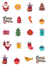 20 CHRISTMAS NAIL DECALS * RETRO CHRISTMAS ASSTORMENT*  WATER SLIDE NAIL DECALS