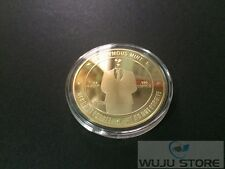 Bitcoin 1oz Gold Plated Collectible Coin BTC  (Anonymous Version)