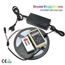 KIT 5M Dream Magic Colors 5050 RGB LED Strip light 12V + RF Remote + 5A Power