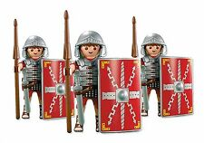 Playmobil 3 ROMAN SOLDIERS -Legionaries Helmet Shield Legion Army NEW Custom Lot